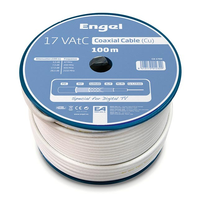 Engel CA1700 100mtrs Digital TV Coaxial Cable Reel