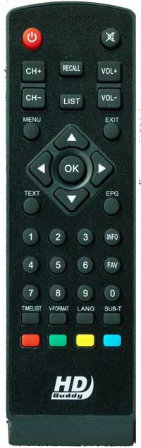 Remote Control for HDBuddy Freeview Receiver