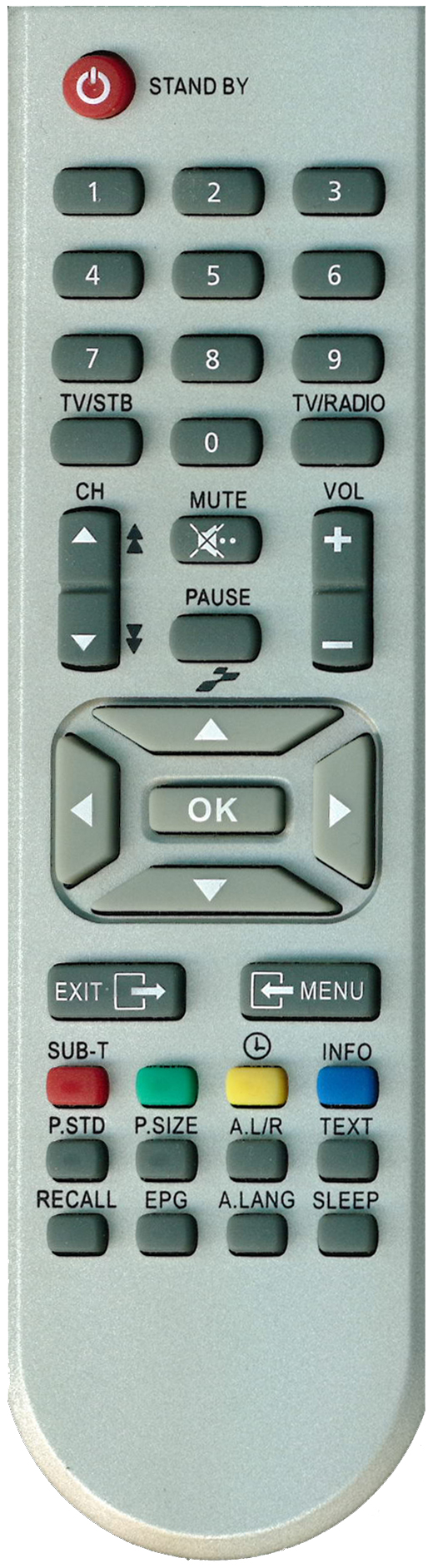 Remote Control for Kaon Satellite Receivers